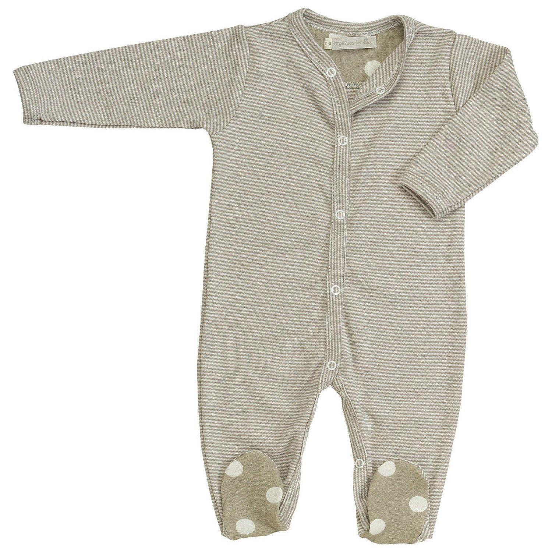 Diseño de rayas en forma de paloma Organics de todos los-diseño con motivos geométricos-One Pelele para bebé (color marrón oscuro), multicolor, ...