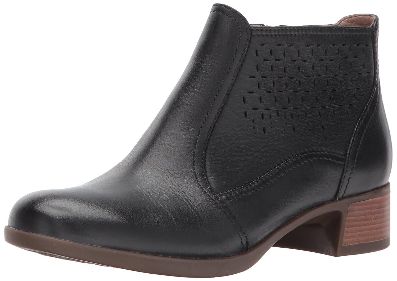 Dansko Women's Liberty Ankle Bootie B01N7N26BE 40 EU/9.5-10 M US|Black Burnished Nappa