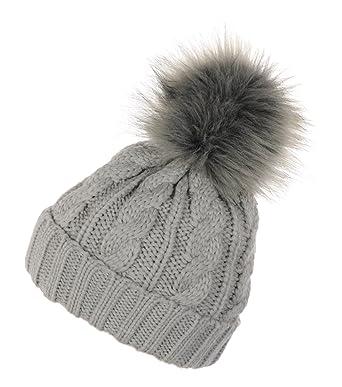 Miuno Girls Scarf Hat /& Glove Set Brown Brown One Size Fits All
