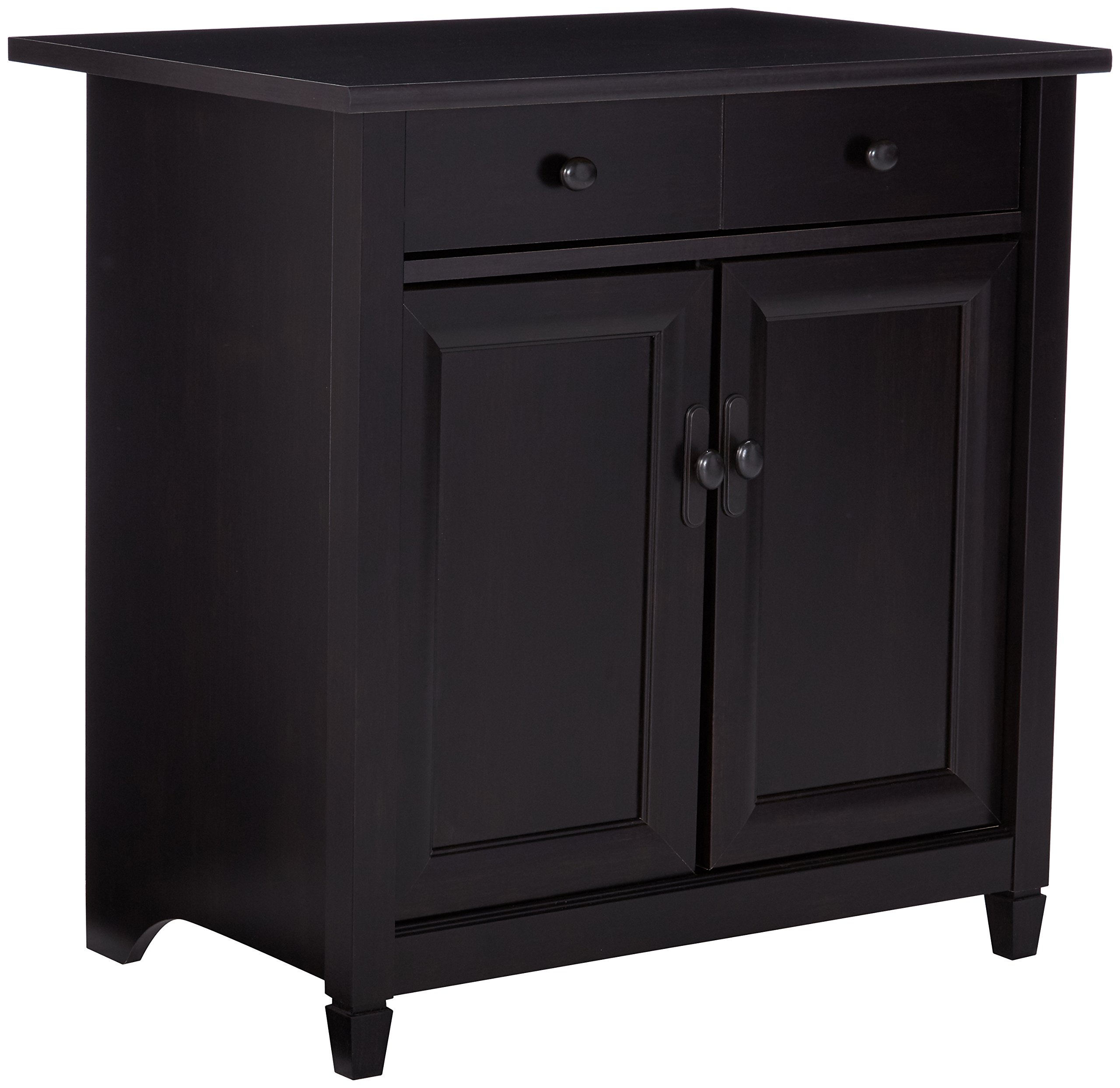 Sauder 408696 Edge Water Utility Cart/Stand, L: 28.19'' x W: 19.45'' x H: 29.02'', Estate Black finish by Sauder