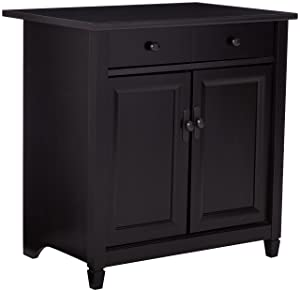 "Sauder 408696 Edge Water Utility Stand L: 28.19"" x W: 19.45"" x H: 29.02 Estate Black"