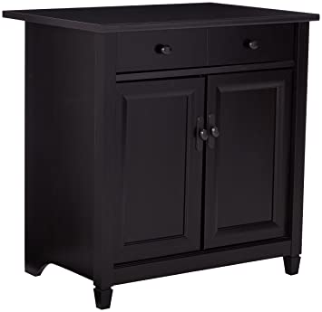 Merveilleux Sauder Edge Water Utility Cart/Free Standing Cabinet, Estate Black Finish