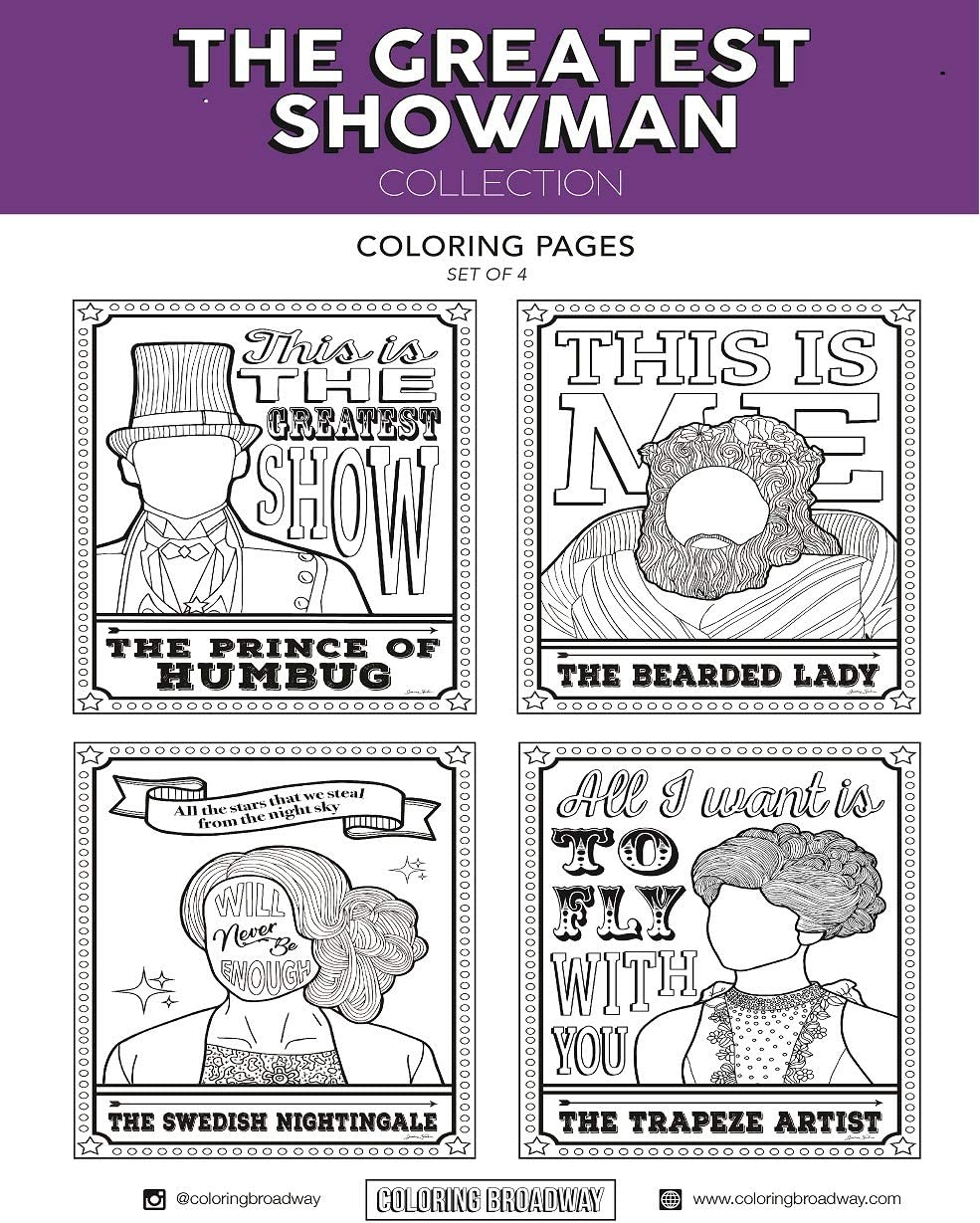35 The Greatest Showman Coloring Pages - Free Printable ...