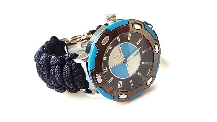 Amazon Black Strap Sportive Paracord Wrist Watch Men Parachute