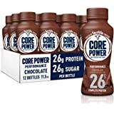 Core Power Protein Shakes (26g), Chocolate, No Artificial Sweeteners, Ready to Drink for Workout Recovery, 11.5 Fl Oz (Pack o