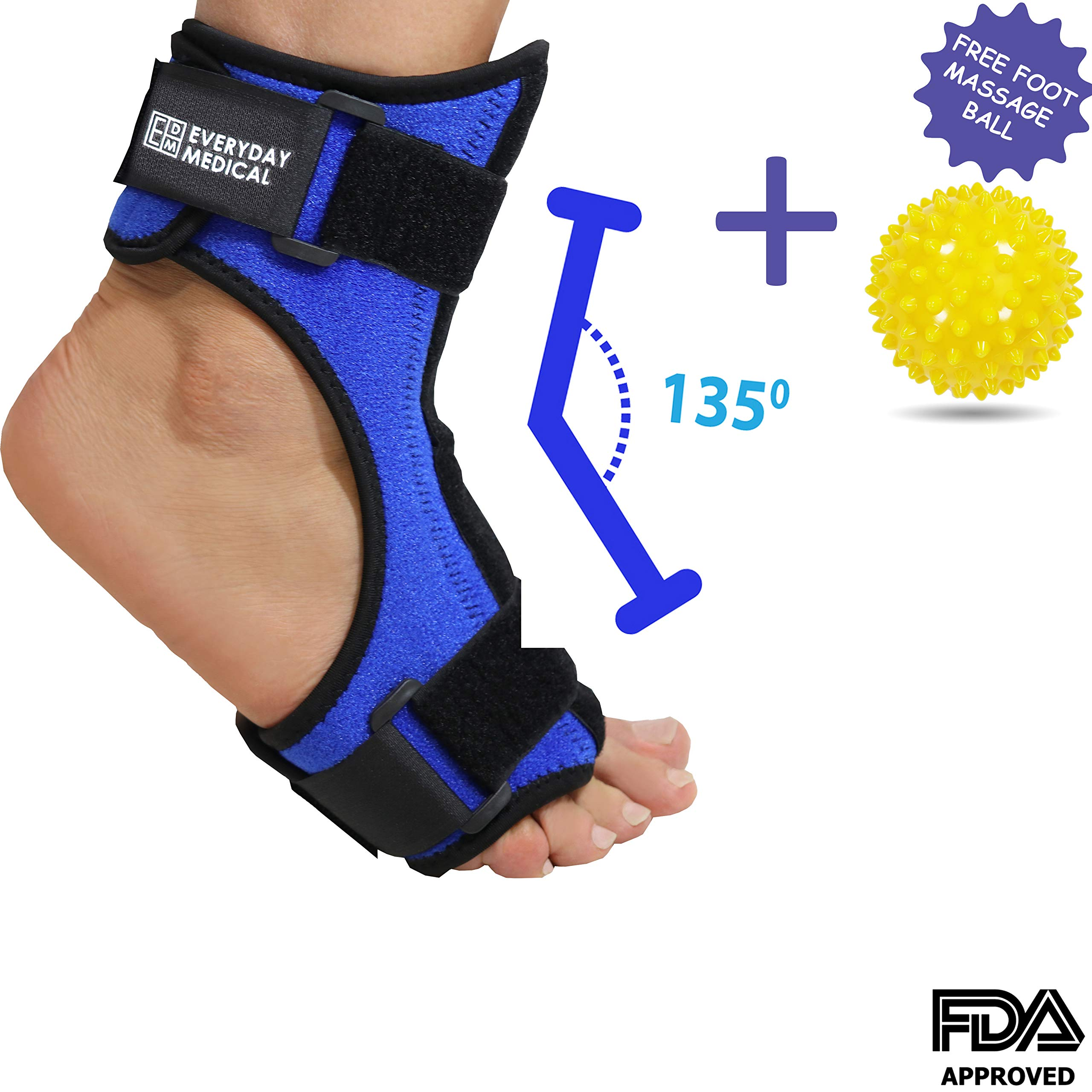 Everyday Medical Plantar Fasciitis Night Stretching Splint, Plantar Fasciitis Arch Support for Better Stability, Plantar Fascia Night Splint, Relief from Achilles Tendonitis, Arch Foot and Heel Pain