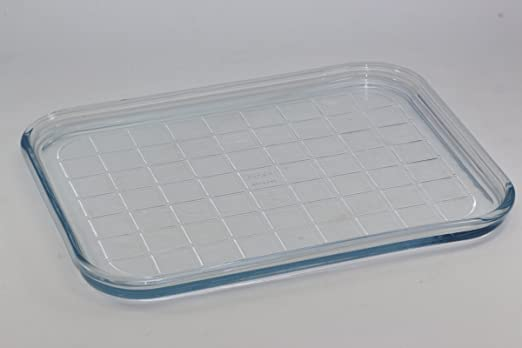 Panasonic Pyrex apta para microondas de cristal bandeja para horno ...