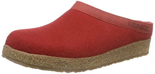 Haflinger Torben, Unisex Adults' Slippers, Red (Rubin), 3 UK