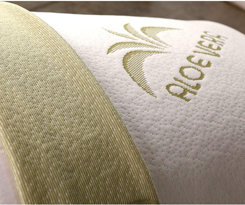 EVERGREENWEB Coppia Cuscini Letto 40x70 Alti 12 cm Modello Saponetta Cervicale 100/% Memory Foam Fodere Aloe Vera e Cotone Sfoderabili 2 Guanciali per Dolori al Collo con Dispositivo Medico Offerta