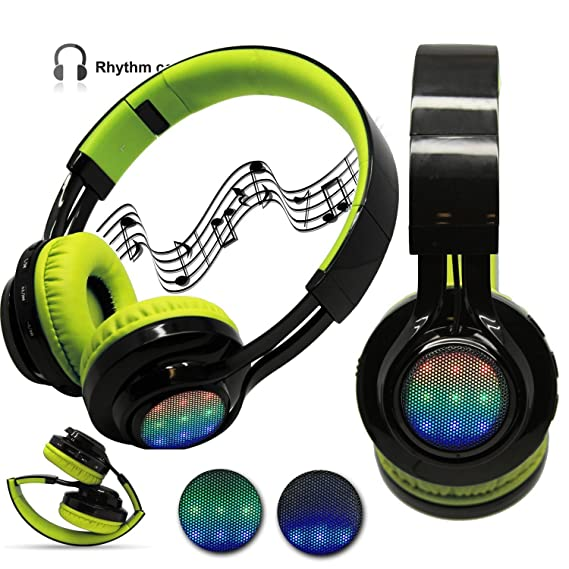 85edc2da0cf 4 in1 LED Auriculares estéreo Bluetooth inalámbrico, radio FM tarjeta de tf  Streaming de música MP3 ...