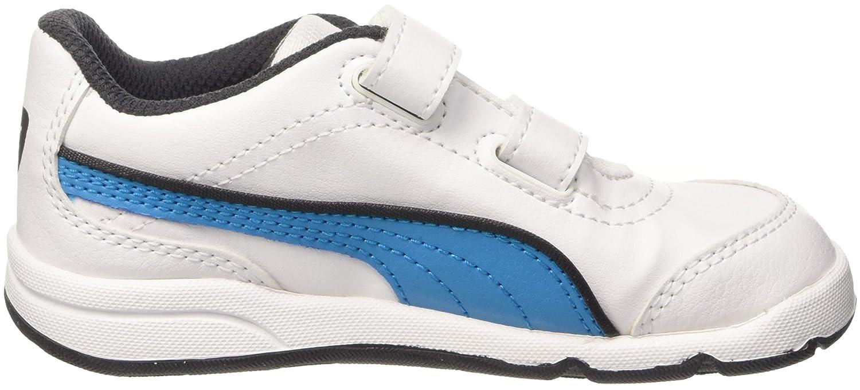 Puma 187367 - Zapatillas de Sintético Unisex infantil, Otoño/Invierno, Unisex Niños, color Bianco/Atomic Blue, tamaño 6
