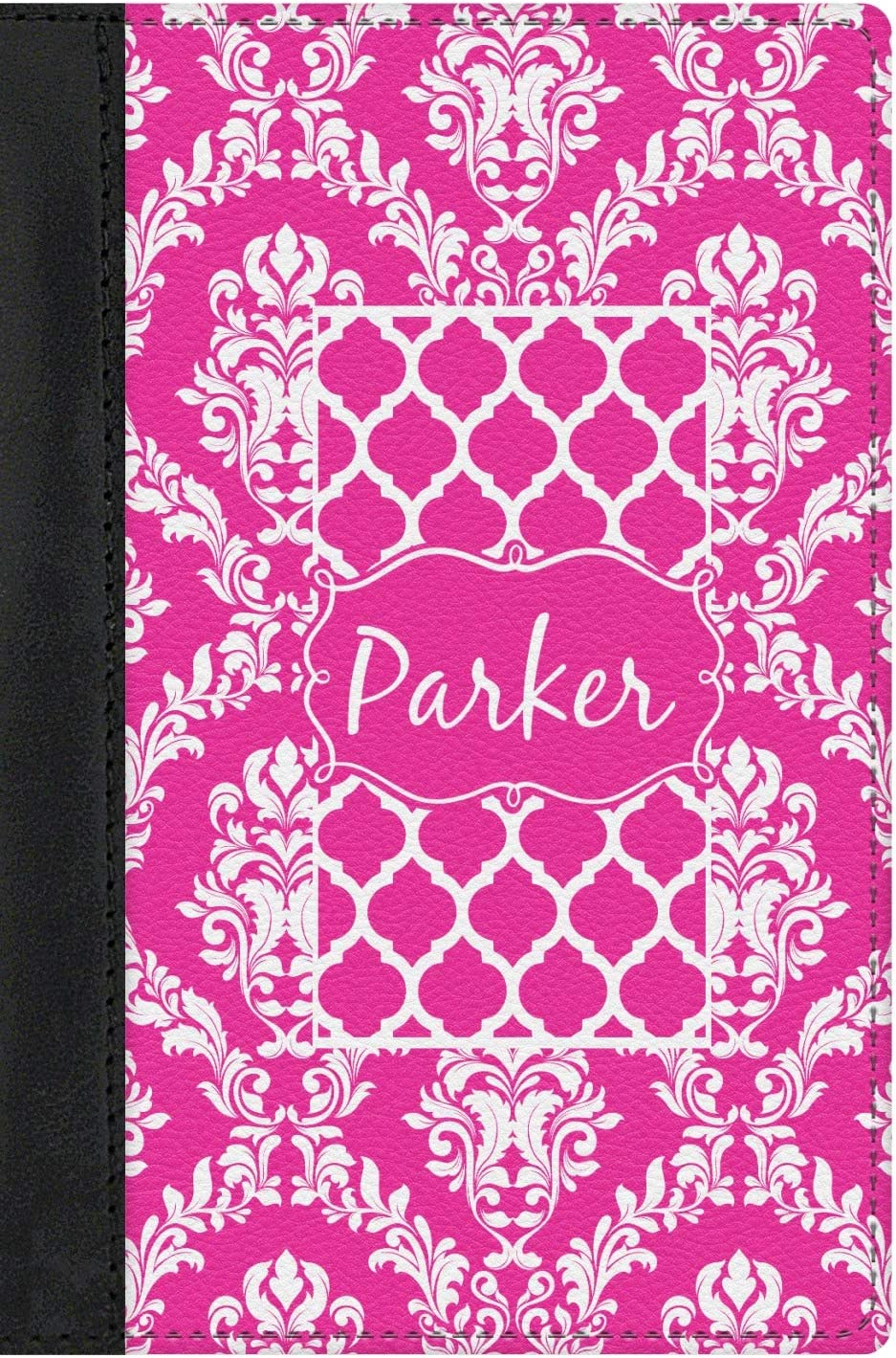 Moroccan /& Damask Genuine Leather Passport Cover Personalized