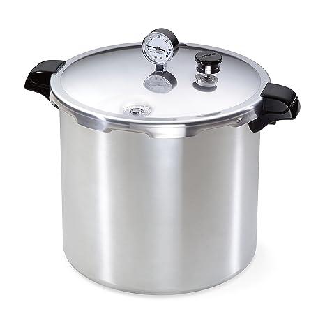 Amazon.com: Olla a presión de aluminio de 23 cuartos ...
