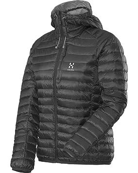 Haglöfs Daunen Jacke Essens II Q Down Hood - Chaqueta de plumas para mujer, color negro, talla L: Amazon.es: Deportes y aire libre