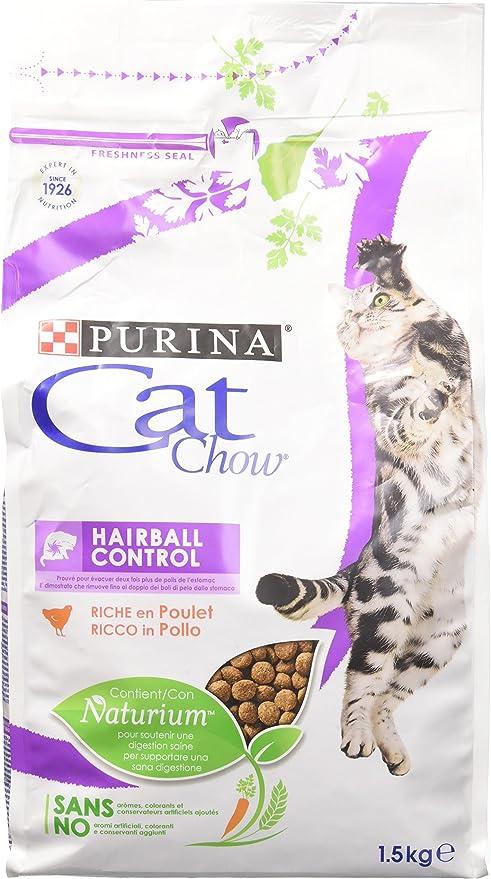 PURINA La bola de pelo Cat Chow comida para gatos seca F.Media ...