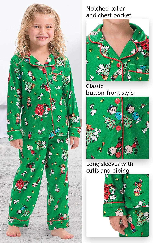 Charlie Brown Christmas Green PajamaGram Unisex Toddler Christmas Pajamas