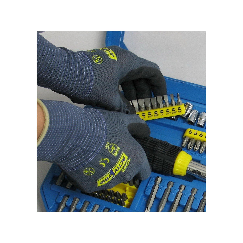 Gr/ö/ße 8 Microfinisch/® Nitrilbeschichtung TOWA ActiveGrip Advance 1 Paar