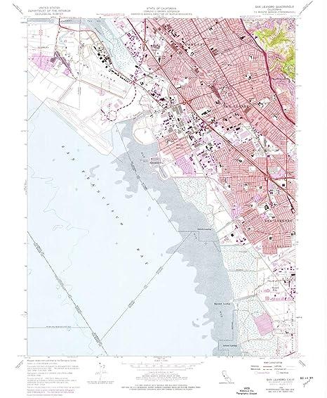 Amazon Com Yellowmaps San Leandro Ca Topo Map 1 24000
