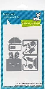 Lawn Fawn Lawn Cuts Custom Craft Die LF1610 Tiny Gift Box Bunny Add-On