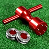 MUXSAM 1pc Red Golf Putter Weights & Wrench Tool