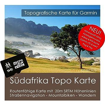 Carte Afrique Du Sud Garmin.Afrique Du Sud Carte Topo 10 M Hauteur Lignes 4 Gb Microsd