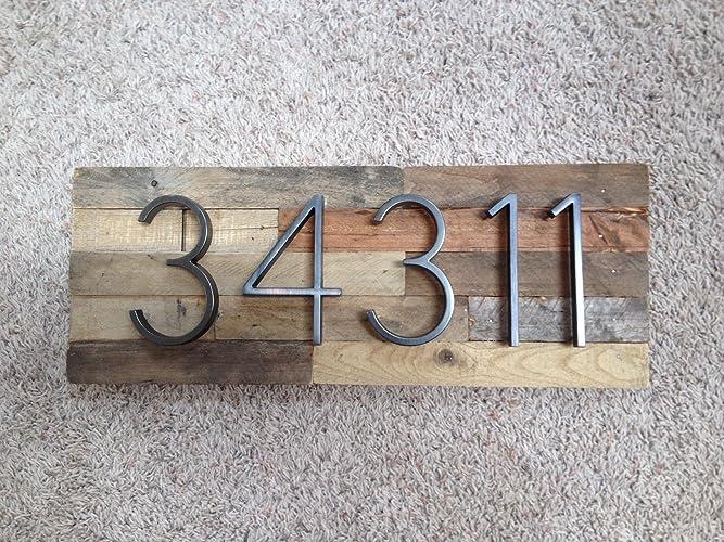 c12d8a4bcf6 Amazon.com  Reclaimed Wood Address Plaque - 5 Digits Horizontal ...