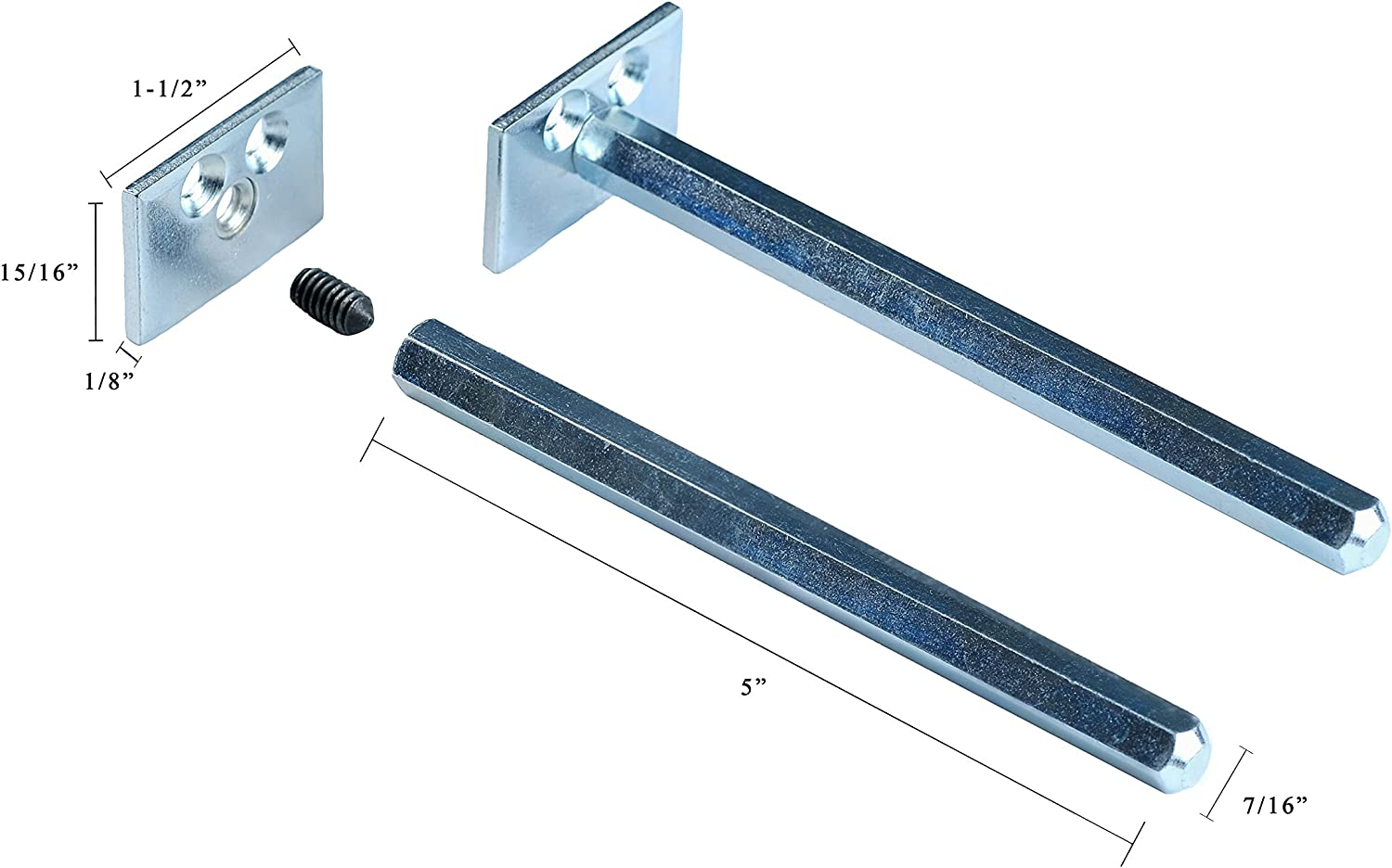 Floating Shelf Brackets - Completely Concealable Hardware Kit for Wood Shelves - Easily Mount Shelves Flush to Wall - Perfect for DIY or Custom Shelving - Blind Supports - Steel