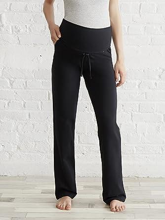 COLLINE Pantalon yoga grossesse et post-grossesse Noir 38 40  Amazon ... 280c5e10135