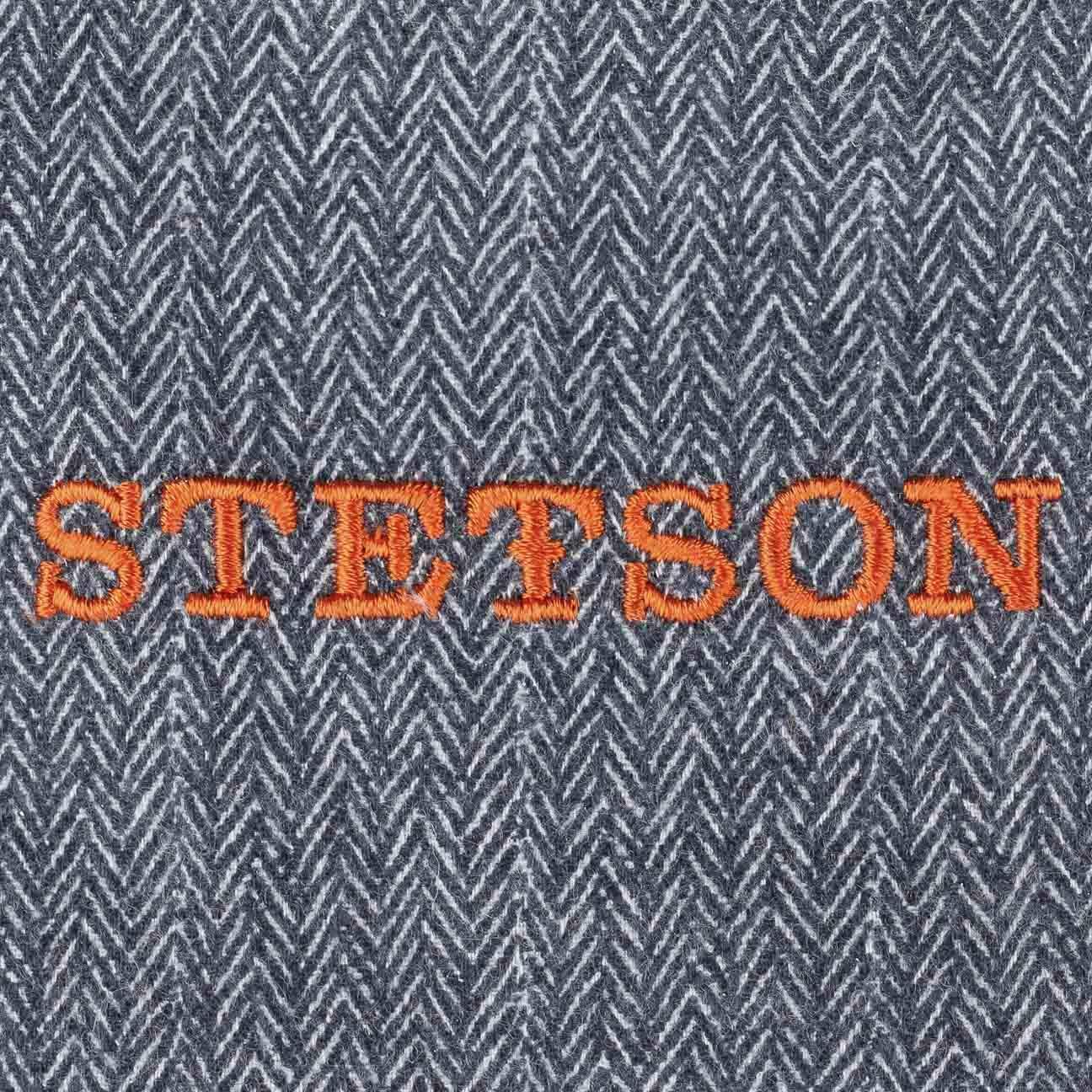 Stetson Coppola Brooklin Wool Cashmere Uomo Made in The EU Cappello Invernale Piatto Cappellino Lana con Visiera Fodera Autunno//Inverno