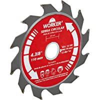 "Serra Circular Widea 4.3/8"" 12 Dentes 20 mm, Worker, 403483"