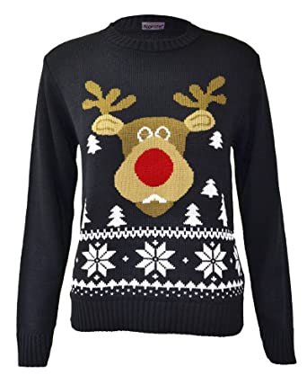 0c7cf9a8f7c Kids Girls Boys Christmas Knitted Jumpers Children Reindeer Rudolph Snowman  Santa Red Navy Knitwear Tops Size 5/6 7/8 9/10 11/12 13 Years