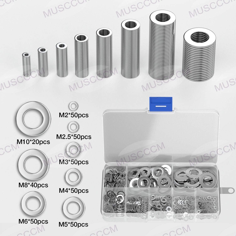 150 dadi esagonali di bloccaggio in acciaio inox M5 M8 e M10 M2,5 M3 M6 M4 assortimento M2