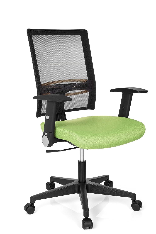 Hjh OFFICE 653750 Office R8 Bürostuhl, Stoff, grün