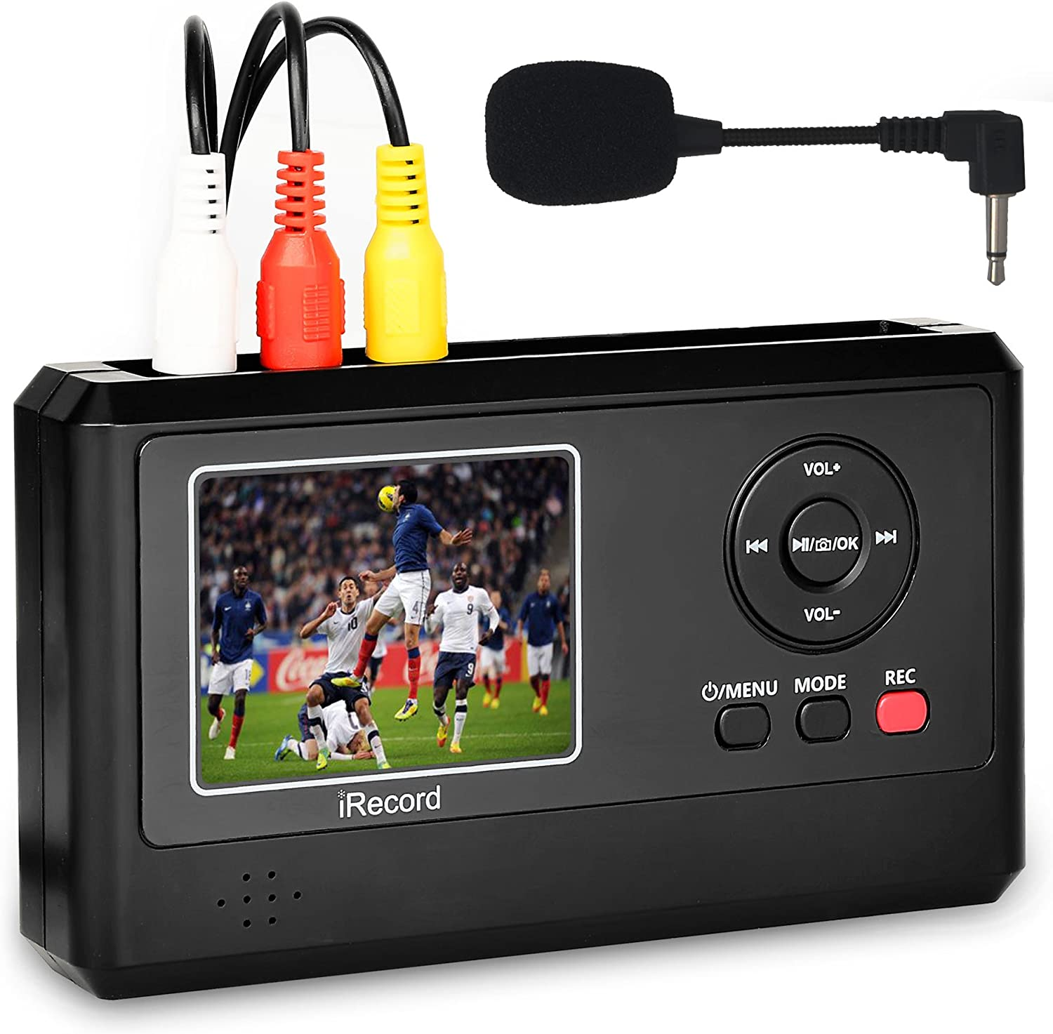 Amazon Com Digitnow Video Capture Box With Microphone Vhs To Digital Dvd Converter From Vcr Tapes Hi8 Camcorder Tv Box And Gaming Systems Save To Tf Card Directly Home Audio Theater