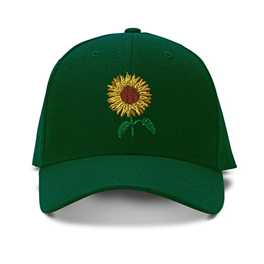 Image Unavailable. Image not available for. Color  Speedy Pros Sunflower  Embroidery Adjustable Structured Baseball Hat Forest Green 1c7159f4946