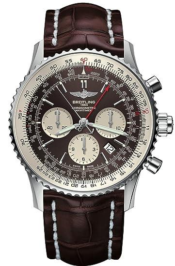 Para hombre Breitling Navitimer Rattrapante bronce reloj ab031021: Breitling: Amazon.es: Relojes