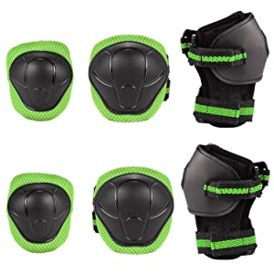 Speedrid Kids Protective Gear, Skating Knee Pads for Child, Elbow and Knee Pads with Wrist Guards 6 in 1 for Cycling Bike Rollerblading Scooter