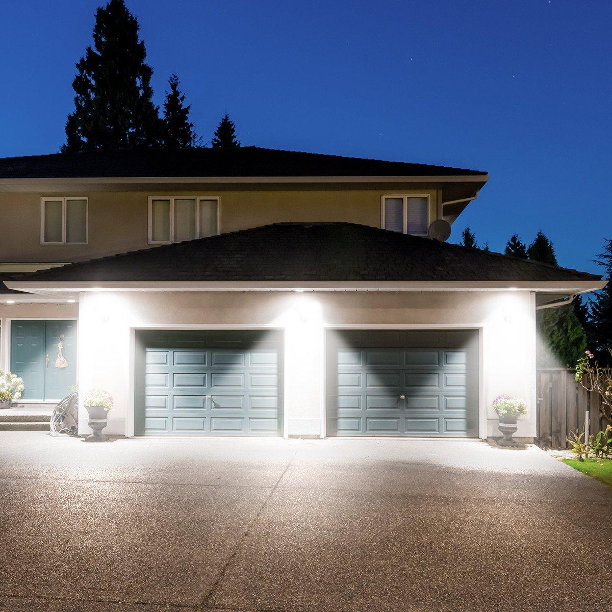 Poweradd LED Licht Nachtlicht Außenleuchte mit Bewegungsmelder und Dämmerungssensor, schwenkbar und regendicht für Garten, Terrasse, Hausflur, Treppen, Balkon, Außenwand