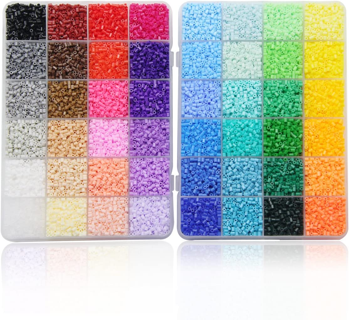 artkal suave Mini cuentas a 2.6 mm 000 fusible cuentas 48 colores surtidos en 2 cajas CA48 (es Mini cuentas no estándar MIDI Beads): Amazon.es: Juguetes y juegos