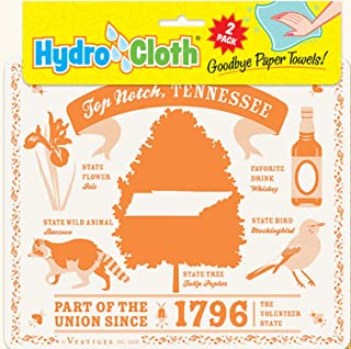 product image for Fiddler's Elbow Top Notch, Tennessee Hydro Cloth | Eco-Friendly Sponge Cloths | Reusable Sponge Cloths | Set of 2 Printed Swedish Dishcloths | Replaces 30 Rolls of Paper Towels