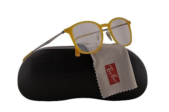 7a807fc81b Ray Ban RX7051 Eyeglasses 49-20-140 Opal Matte Yellow 5519 RX 7051 ...