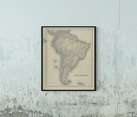Amazon|1876年 読む地図、南米のコチェルスペルガー、H. L.|歴史的な ...