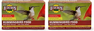 Audubon Park 1661 Hummingbird Food Nectar Powder, Contains (3) 3-Ounce Packets (Twо Pаck)
