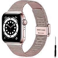Ouwegaga Vervangende Bandje Compatibel met Apple Watch Bandje 38mm 40mm 42mm 44mm SE, Klassieke Roestvrijstalen Metalen…