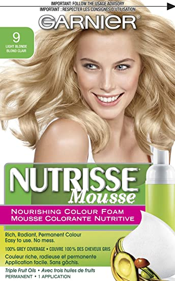 Garnier Nutrisse Nourishing Color Foam, Light Blonde
