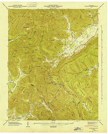 Amazon Com Yellowmaps Pioneer Tn Topo Map 1 24000 Scale 7 5 X