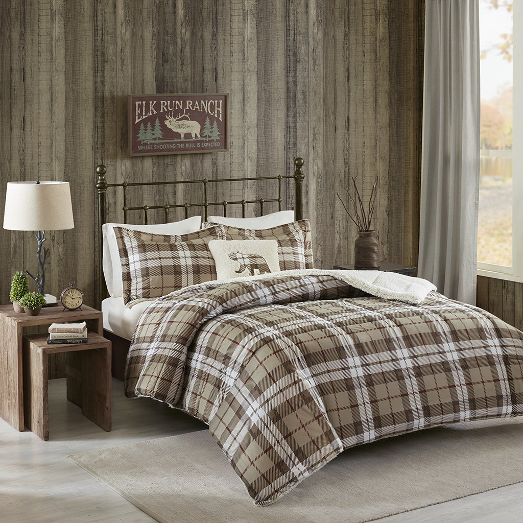 Rock Ridge Softspun Down Alternative Comforter Set Khaki King
