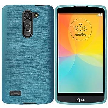 elecdorith TPU Suave Case Brushed Silicona Carcasa para LG L Bello , LG L Bello Funda , Azul