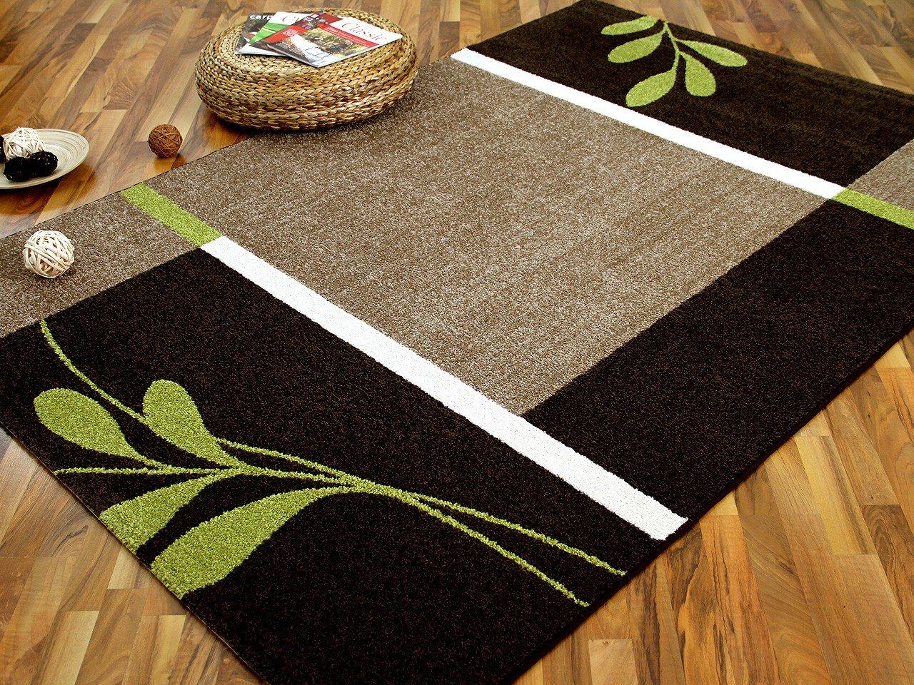 Designer teppich softstar country grün braun blumen in größen