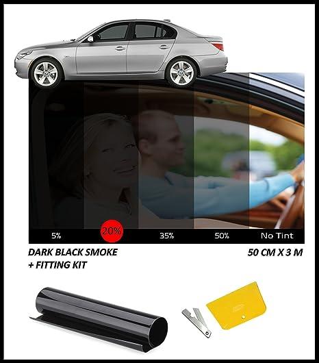 Dalla Pellicola Coprente Scuro Nero Fumo 20 50 X 300 Cm Amazon It